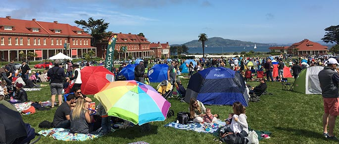 Presidio Picnic Lawn, Sundays from April through October