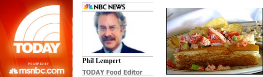 NBC Today Show Phil Lempert, TODAY Food Editor, awards Sam's Lobster Roll top 5 best sandwiches in America